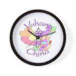 Yuhang China Map Wall Clock
