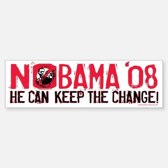 Nobama Keep the Change Bumper Bumper Bumper Sticker