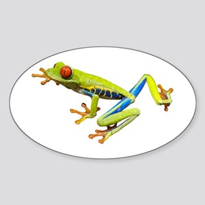 Red-Eyed Tree Frog Oval Sticker