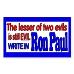 Write in Ron Paul Rectangle Sticker