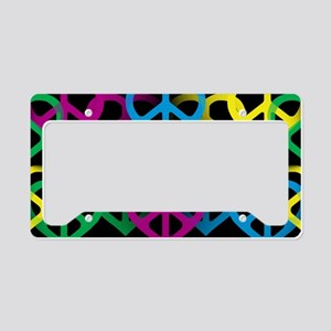 Peace Hearts License Plate Holder