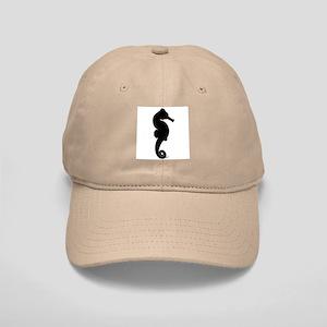 Seahorse (black) Cap