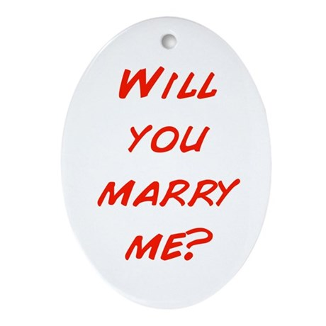 Comic - Will you marry me? Oval Ornament