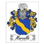 Marcello Family Crest Small Poster
