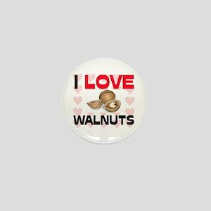 I Love Walnuts Mini Button
