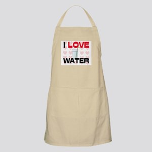 I Love Water BBQ Apron