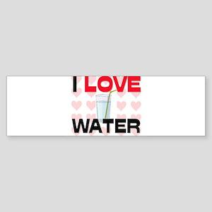 I Love Water Bumper Sticker