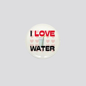 I Love Water Mini Button