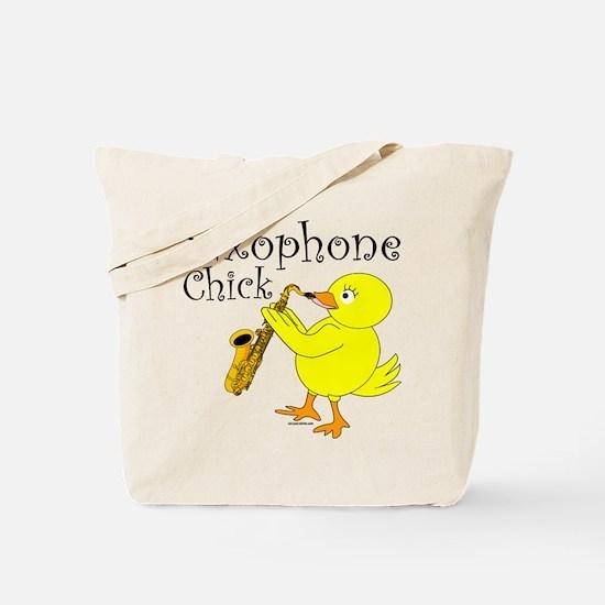 Saxophone Chick Tote Bag