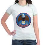 USS BARRY Jr. Ringer T-Shirt