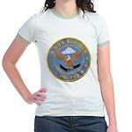 USS BARTON Jr. Ringer T-Shirt