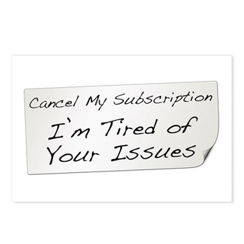 Cancel My Subscription Postcards (Package of 8)