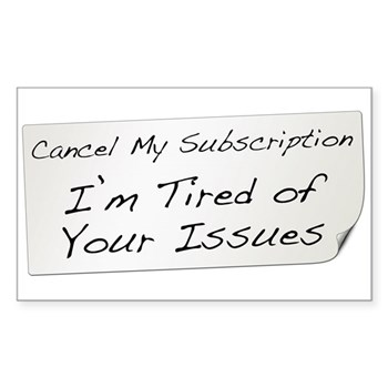 Cancel My Subscription Rectangle Sticker 10 pk)