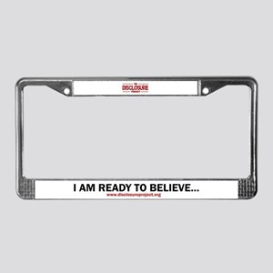 Disclosure License Plate Frame