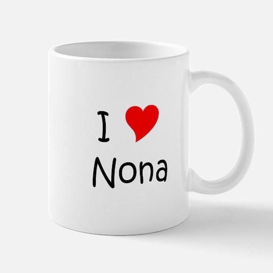 Unique I love nona Mug