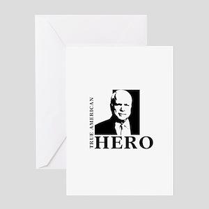 John McCain True American Hero Greeting Card