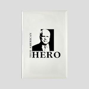 John McCain True American Hero Rectangle Magnet
