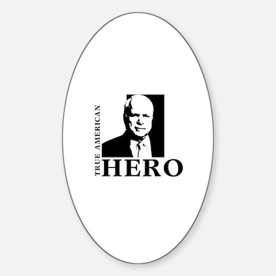 John McCain True American Hero Oval Decal