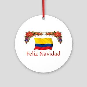 Colombia Feliz Navidad 2 Ornament (Round)
