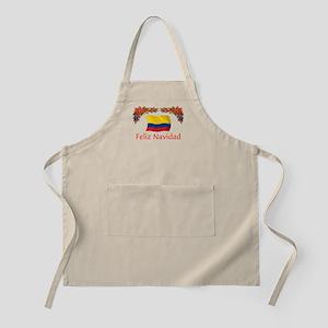 Colombia Feliz Navidad 2 BBQ Apron