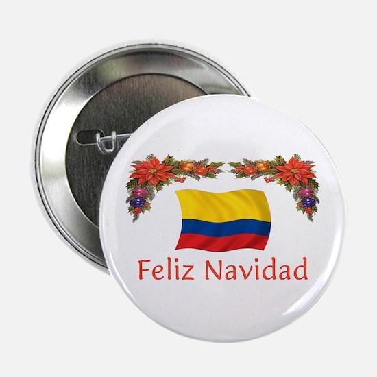 """Colombia Feliz Navidad 2 2.25"""" Button"""