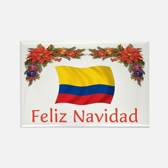 Colombia Feliz Navidad 2 Rectangle Magnet