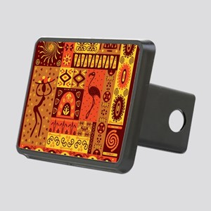African Traditional Orname Rectangular Hitch Cover