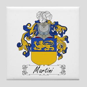 Martini Family Crest Tile Coaster