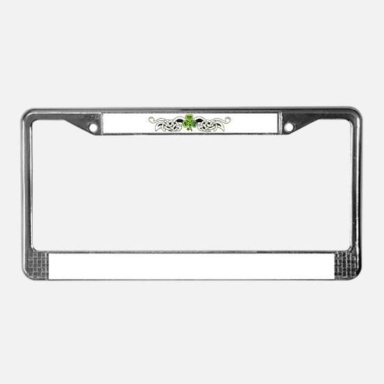 Cool 4 leaf clover License Plate Frame