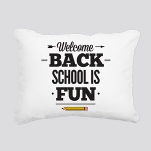 Back To School Rectangular Canvas Pillow