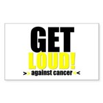 GetLoudAgainstCancer Rectangle Sticker 10 pk)