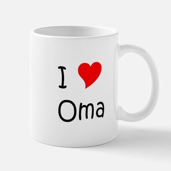 Unique I love oma Mug