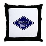 Reading Lines Throw Pillow