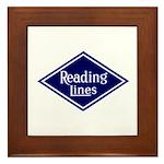 Reading Lines Framed Tile