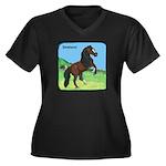 Shetland Pony Power Women's Plus Size V-Neck Dark