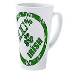 100 Percent Irish 17 Oz Latte Mug