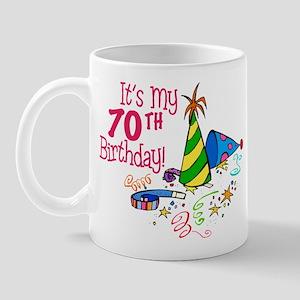 It's My 70th Birthday (Party Hats) Mug