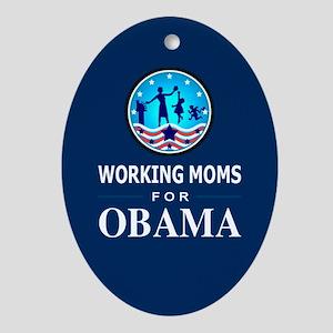 Working Moms Obama Oval Ornament