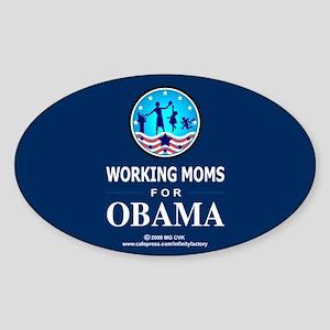 Working Moms Obama Oval Sticker