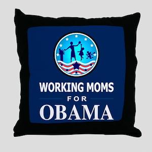 Working Moms Obama Throw Pillow