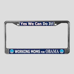 Working Moms Obama License Plate Frame