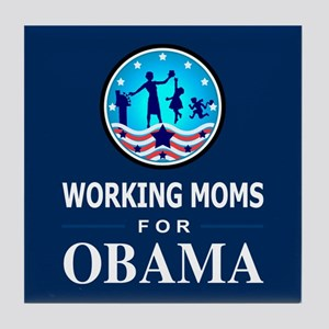 Working Moms Obama Tile Coaster