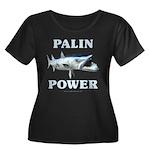Palin Power Women's Plus Size Scoop Neck Dark T-Sh