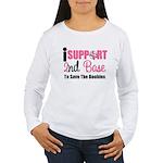 BreastCancer2ndBase Women's Long Sleeve T-Shirt