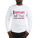 BreastCancer2ndBase Long Sleeve T-Shirt