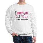 BreastCancer2ndBase Sweatshirt