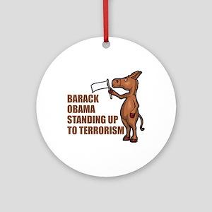 Anti-Obama War On Terror Ornament (Round)