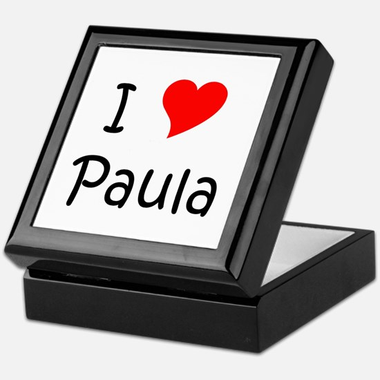 Cute Paula Keepsake Box