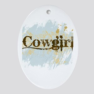 Cowgirl Oval Ornament