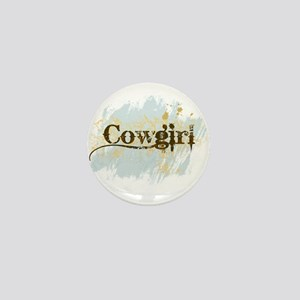 Cowgirl Mini Button